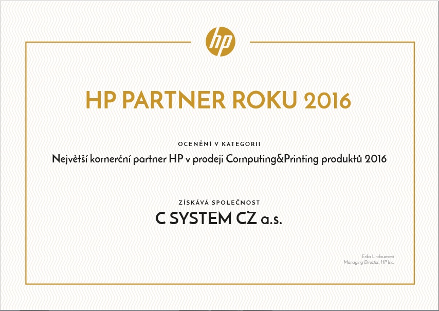 HP partner roku 2016